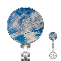 Clouds Sky Scene Stainless Steel Nurses Watch by Celenk
