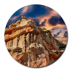 Canyon Dramatic Landscape Sky Round Mousepads by Celenk