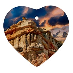 Canyon Dramatic Landscape Sky Ornament (heart) by Celenk