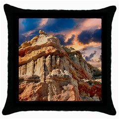 Canyon Dramatic Landscape Sky Throw Pillow Case (black) by Celenk