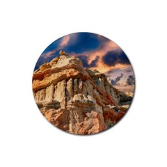 Canyon Dramatic Landscape Sky Rubber Coaster (round)  by Celenk