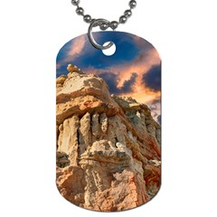 Canyon Dramatic Landscape Sky Dog Tag (two Sides) by Celenk