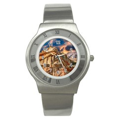 Canyon Dramatic Landscape Sky Stainless Steel Watch by Celenk