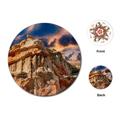 Canyon Dramatic Landscape Sky Playing Cards (round)  by Celenk