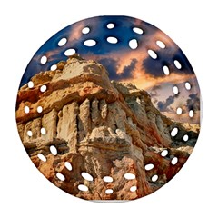 Canyon Dramatic Landscape Sky Round Filigree Ornament (two Sides) by Celenk