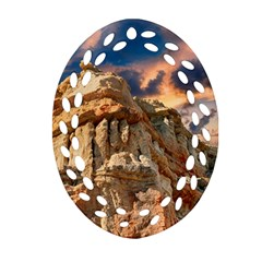 Canyon Dramatic Landscape Sky Ornament (oval Filigree) by Celenk