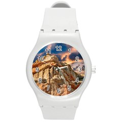 Canyon Dramatic Landscape Sky Round Plastic Sport Watch (m) by Celenk