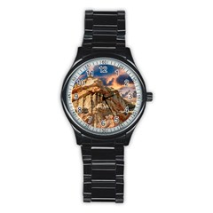 Canyon Dramatic Landscape Sky Stainless Steel Round Watch by Celenk