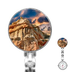 Canyon Dramatic Landscape Sky Stainless Steel Nurses Watch by Celenk