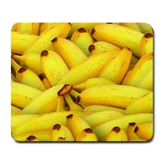Yellow Banana Fruit Vegetarian Natural Large Mousepads by Celenk