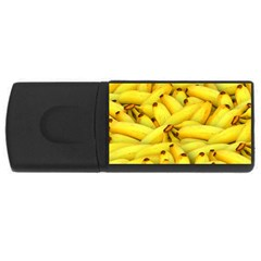 Yellow Banana Fruit Vegetarian Natural Rectangular Usb Flash Drive by Celenk