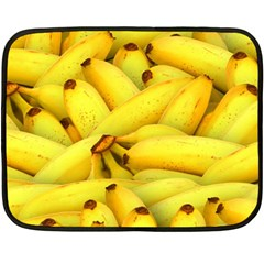 Yellow Banana Fruit Vegetarian Natural Double Sided Fleece Blanket (mini)  by Celenk