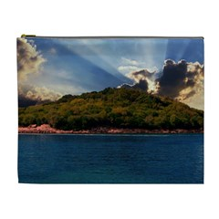Island God Rays Sky Nature Sea Cosmetic Bag (xl) by Celenk