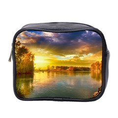Landscape Lake Sun Sky Nature Mini Toiletries Bag 2 Side by Celenk