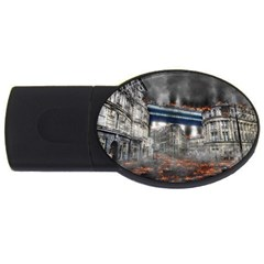 Destruction City Building Usb Flash Drive Oval (2 Gb) by Celenk