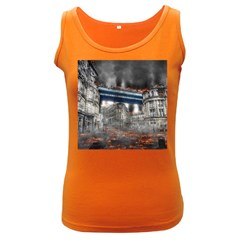Destruction City Building Women s Dark Tank Top by Celenk