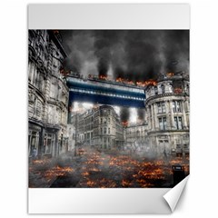 Destruction City Building Canvas 12  X 16   by Celenk