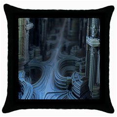 Fractal Design Throw Pillow Case (black) by Celenk
