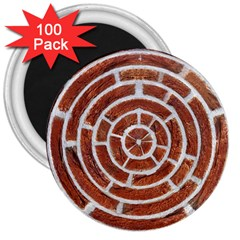 Brick Pattern Texture Backdrop 3  Magnets (100 Pack) by Celenk