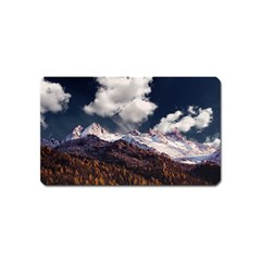 Mountain Sky Landscape Hill Rock Magnet (name Card) by Celenk