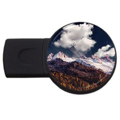 Mountain Sky Landscape Hill Rock Usb Flash Drive Round (2 Gb) by Celenk