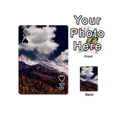 Mountain Sky Landscape Hill Rock Playing Cards 54 (mini)  by Celenk