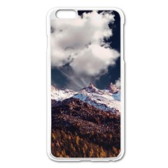 Mountain Sky Landscape Hill Rock Apple Iphone 6 Plus/6s Plus Enamel White Case by Celenk