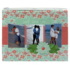 Surf Sand Sun   Tropical Vacation Cosmetic Bag Xxxl By Mikki   Cosmetic Bag (xxxl)   Ofik7qkbf279   Www Artscow Com Front