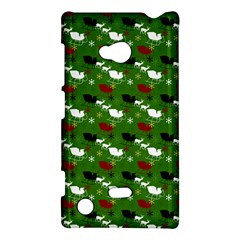 Snow Sleigh Deer Green Nokia Lumia 720 by snowwhitegirl