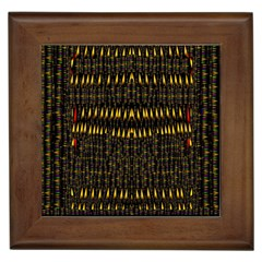 Hot As Candles And Fireworks In The Night Sky Framed Tiles by pepitasart