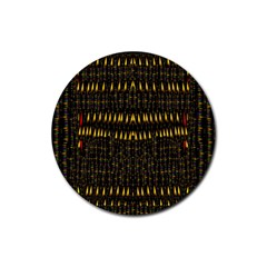 Hot As Candles And Fireworks In The Night Sky Rubber Round Coaster (4 Pack)  by pepitasart