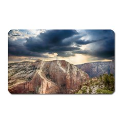 Nature Landscape Clouds Sky Rocks Magnet (rectangular) by Celenk