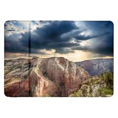 Nature Landscape Clouds Sky Rocks Samsung Galaxy Tab 8 9  P7300 Flip Case by Celenk