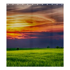 Countryside Landscape Nature Rural Shower Curtain 66  X 72  (large)  by Celenk