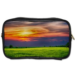 Countryside Landscape Nature Rural Toiletries Bags 2 Side by Celenk