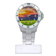 Countryside Landscape Nature Rural Plastic Nurses Watch by Celenk