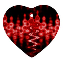 Red And Black Wave Pattern Ornament (heart) by Celenk
