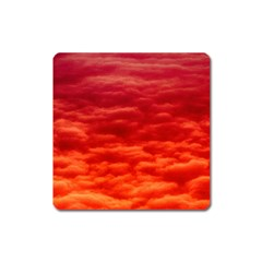 Red Cloud Square Magnet by Celenk