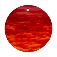 Red Cloud Round Ornament (two Sides) by Celenk