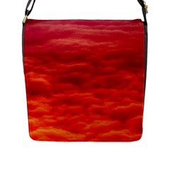 Red Cloud Flap Messenger Bag (l)  by Celenk