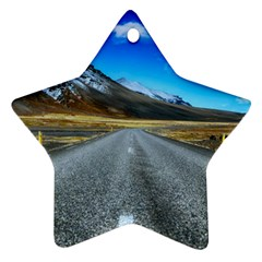 Road Mountain Landscape Travel Ornament (star) by Celenk