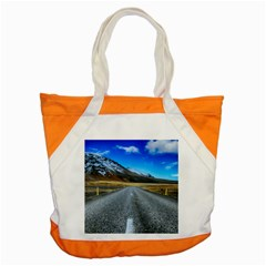 Road Mountain Landscape Travel Accent Tote Bag by Celenk
