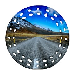 Road Mountain Landscape Travel Ornament (round Filigree) by Celenk