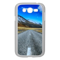 Road Mountain Landscape Travel Samsung Galaxy Grand Duos I9082 Case (white) by Celenk