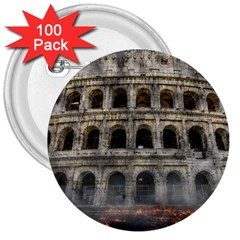 Colosseum Italy Landmark Coliseum 3  Buttons (100 Pack)  by Celenk