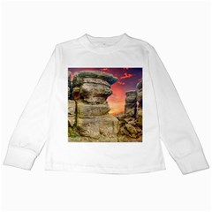 Rocks Landscape Sky Sunset Nature Kids Long Sleeve T Shirts by Celenk