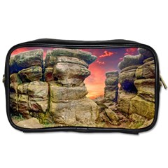Rocks Landscape Sky Sunset Nature Toiletries Bags 2 Side by Celenk