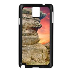Rocks Landscape Sky Sunset Nature Samsung Galaxy Note 3 N9005 Case (black) by Celenk
