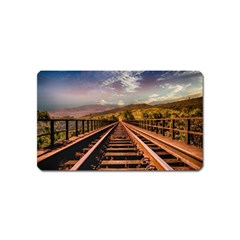 Railway Track Travel Railroad Magnet (name Card) by Celenk