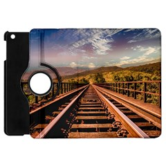 Railway Track Travel Railroad Apple Ipad Mini Flip 360 Case by Celenk